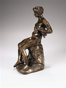 winter accrochage women by auguste rodin