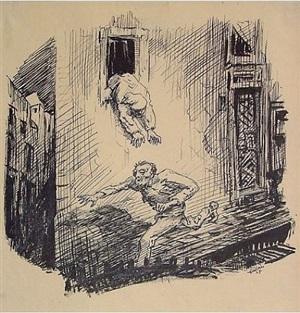 fleeing burglar by alfred kubin