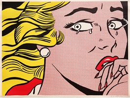 crying girl by roy lichtenstein
