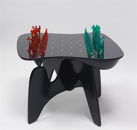 chess table and pieces by isamu noguchi