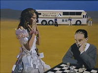 marcel duchamp's world tour: playing chess with tracey by peter blake