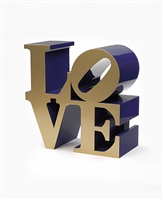 love (gold faces blue sides) by robert indiana