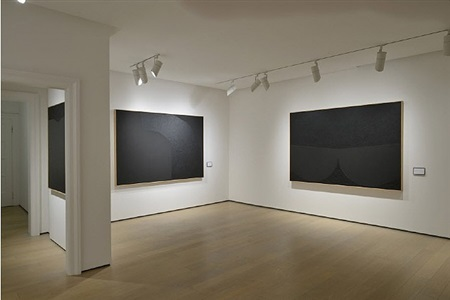 alberto burri black work. cellotex 1972-1992 by alberto burri