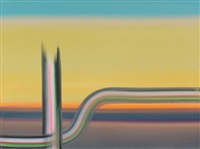 sunset (pipeline series) by wanda koop