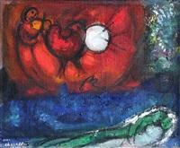 etude pour la nuit de vence by marc chagall
