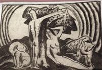 two sided drawing by béla kádár