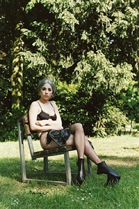 gaga sitting in park by wolfgang tillmans