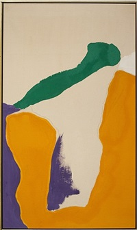 good luck orange by helen frankenthaler