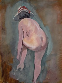 unbekleidetes modell by george grosz