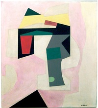 abstraction in pink by ilya bolotowsky
