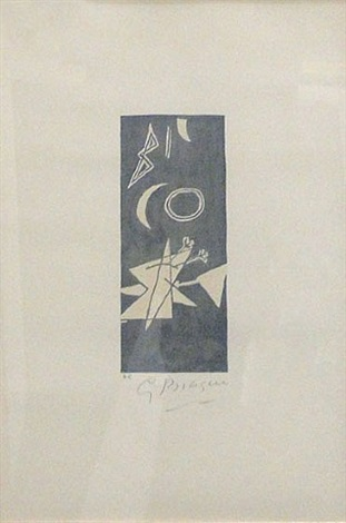 ciel griss ii by georges braque