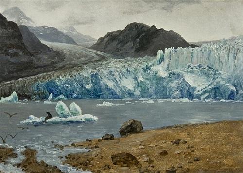 alaskan glacier by albert bierstadt
