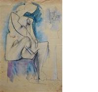 cubist nude by hans gustav burkhardt