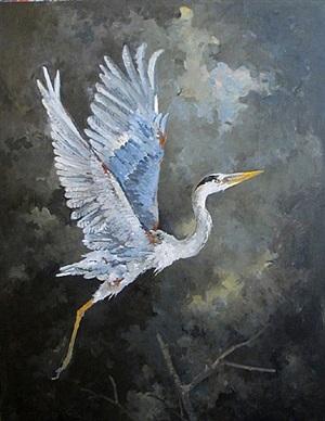 heron - untitled by john alexander