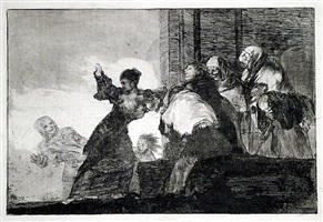 disparate pobre (two heads are better than one) – proof by francisco de goya