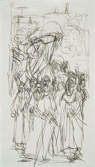 les ermites (after jan van eyck) by alberto giacometti