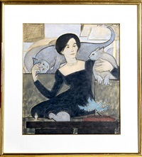 cat lover by will barnet