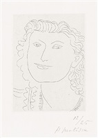visage souriant (smiling face) by henri matisse