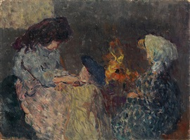 la flambée (les enfants bompart) by louis valtat