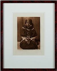 touch her dress- kalispel (inventory #10894c) by edward sheriff curtis