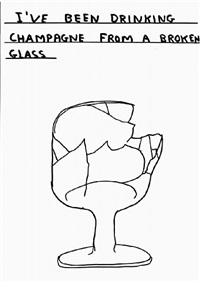 untitled (broken glass) by david shrigley