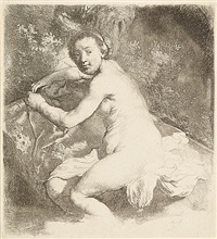 diana at the bath by rembrandt van rijn