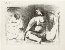 deux femmes accroupies (two squatting women) by pablo picasso