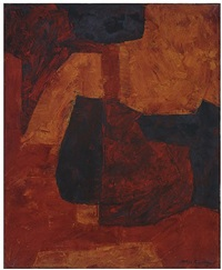 composition orange, verte et rouge by serge poliakoff