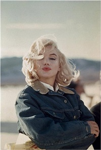 usa. 1960. us actress marilyn monroe on the nevada desert during the filming of