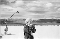 usa. nevada. us actress marilyn monroe on the nevada desert going over her lines for a difficult scene she is about to play with clarke gable in the film