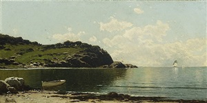 coastal landscape by alfred thompson bricher