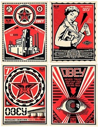 obey x levis (suite of 4) by shepard fairey