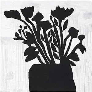 flowers in a vase by donald baechler