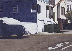 covered car - missouri street by robert bechtle