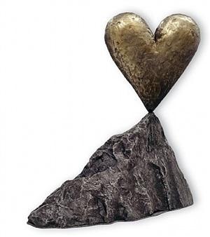 walla walla heart on a rock by jim dine