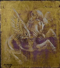 winged ram by leonora carrington