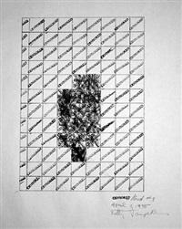 censored/grid #3 by betty tompkins