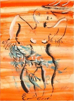 untitled (orange daphne) by irene rice pereira