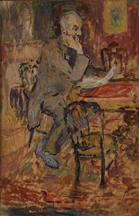 son père en train de lire by louis valtat