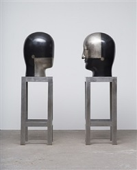 untitled heads (b-12-08-01) by jun kaneko