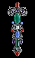 impressive celtic sceptre brooch by amy sandheim
