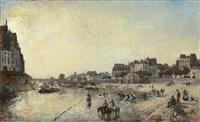 le quai des célestins by johan barthold jongkind