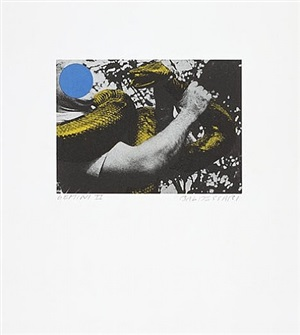 untitled (man with snake) by john baldessari