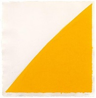colored paper image iv (yellow curve) by ellsworth kelly