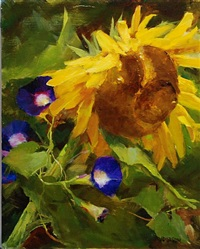 garden sunflower by kathy anderson