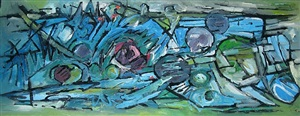 faw794 - movement in turquoise by frank avray wilson