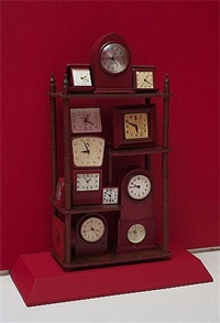 red clock tower by betye saar