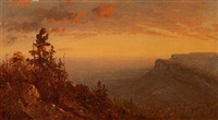 sunset over the shawangunks by sanford robinson gifford