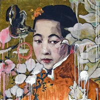 flower girl gold by hung liu