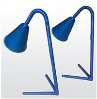 jean royere personal pair of rattan blue lamps from his house in auray in brittany/paire de lampes personnelles de jean royere en rotin bleu de sa maison d'auray en bretagne by jean royère